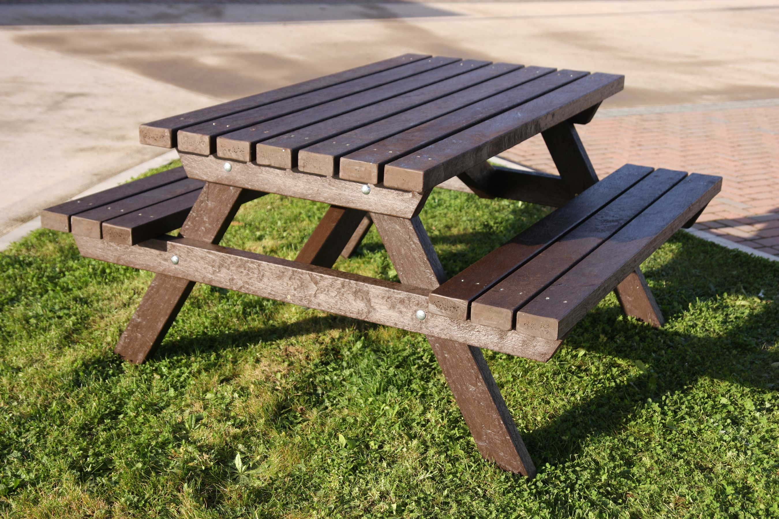 A-frame Salcombe picnic table made from recycled plastic