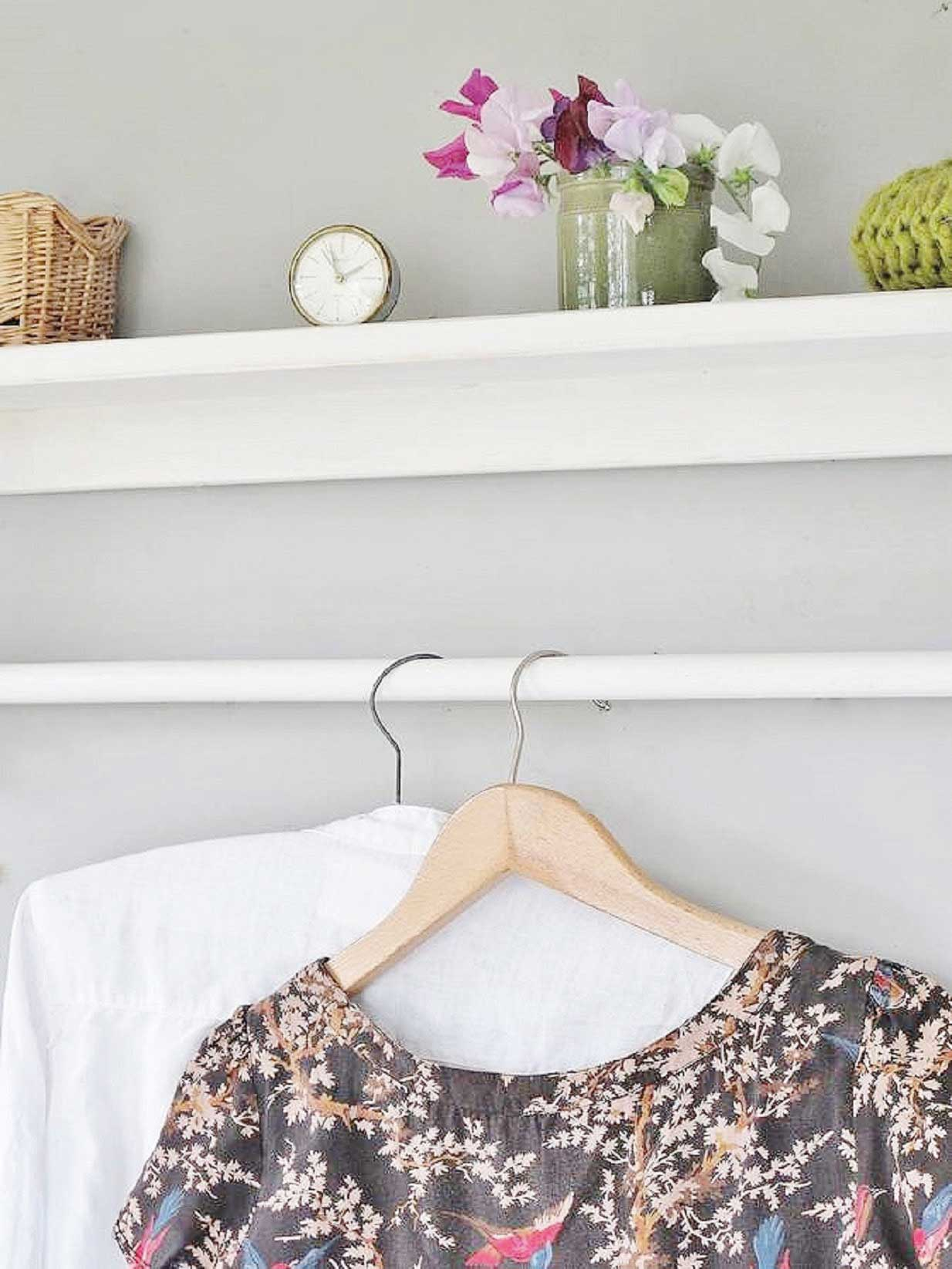 Shelf and clothes rail