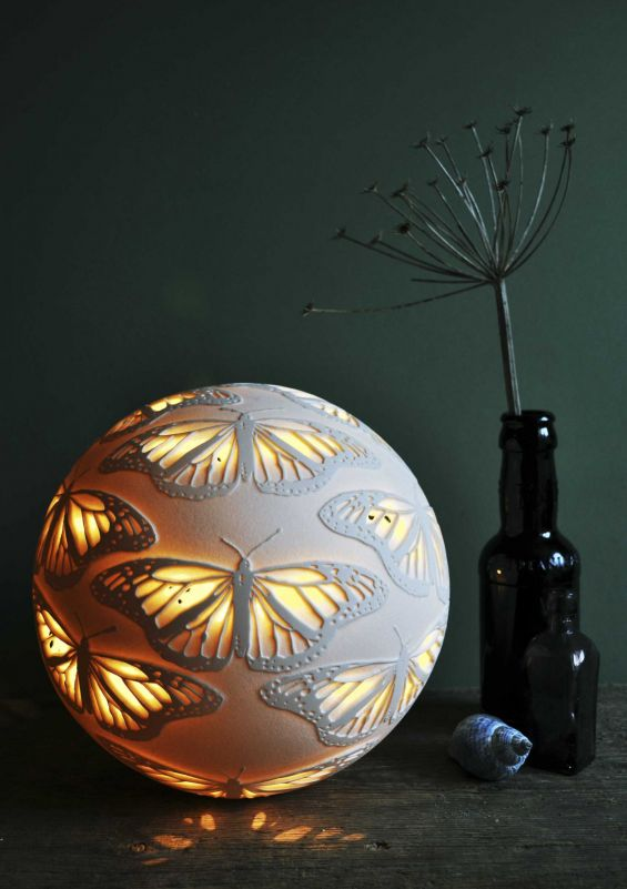 Monarch sphere porcelain ceramic light by Amy Cooper