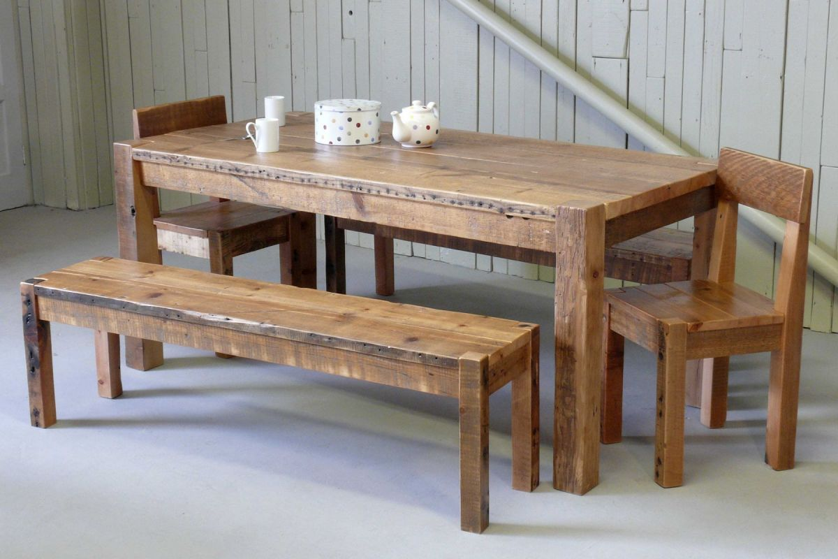 Chunky Monkey original reclaimed pine with bench