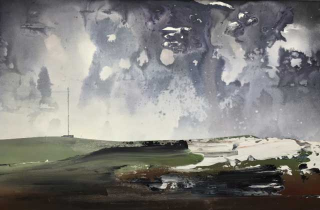 George Ptacek's 'Winter Landscape, North Hessary Tor, Dartmoor'