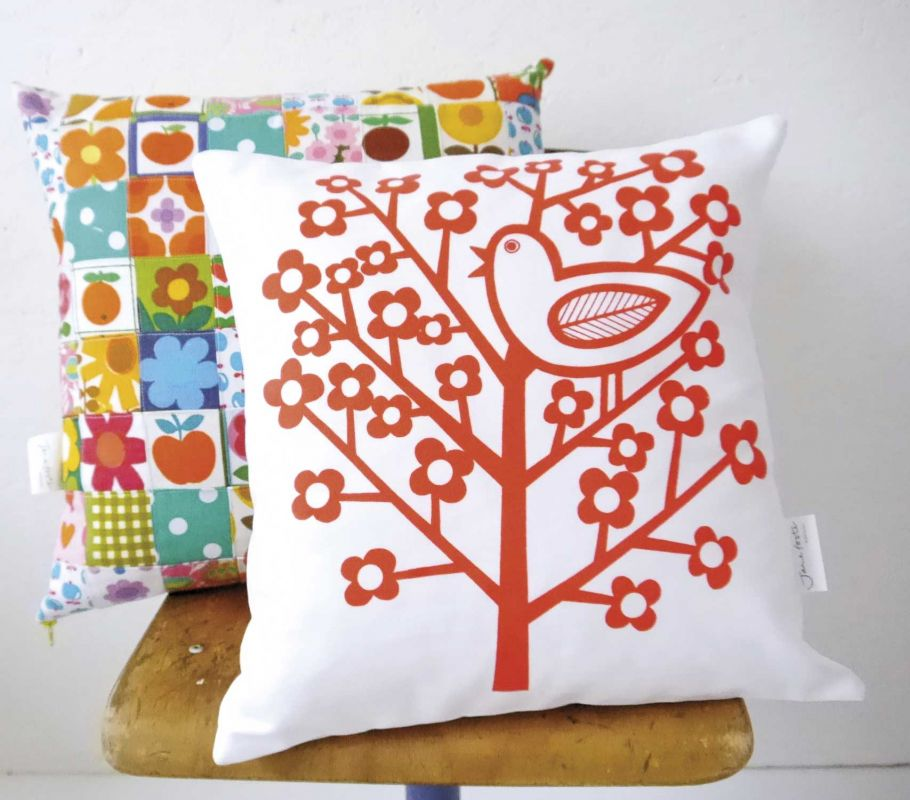 Printed cushion cover by Jane Foster