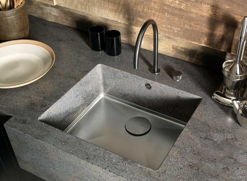 Sparkling Sink with Worktop in Lava Rock by DuPont, Corian® Design