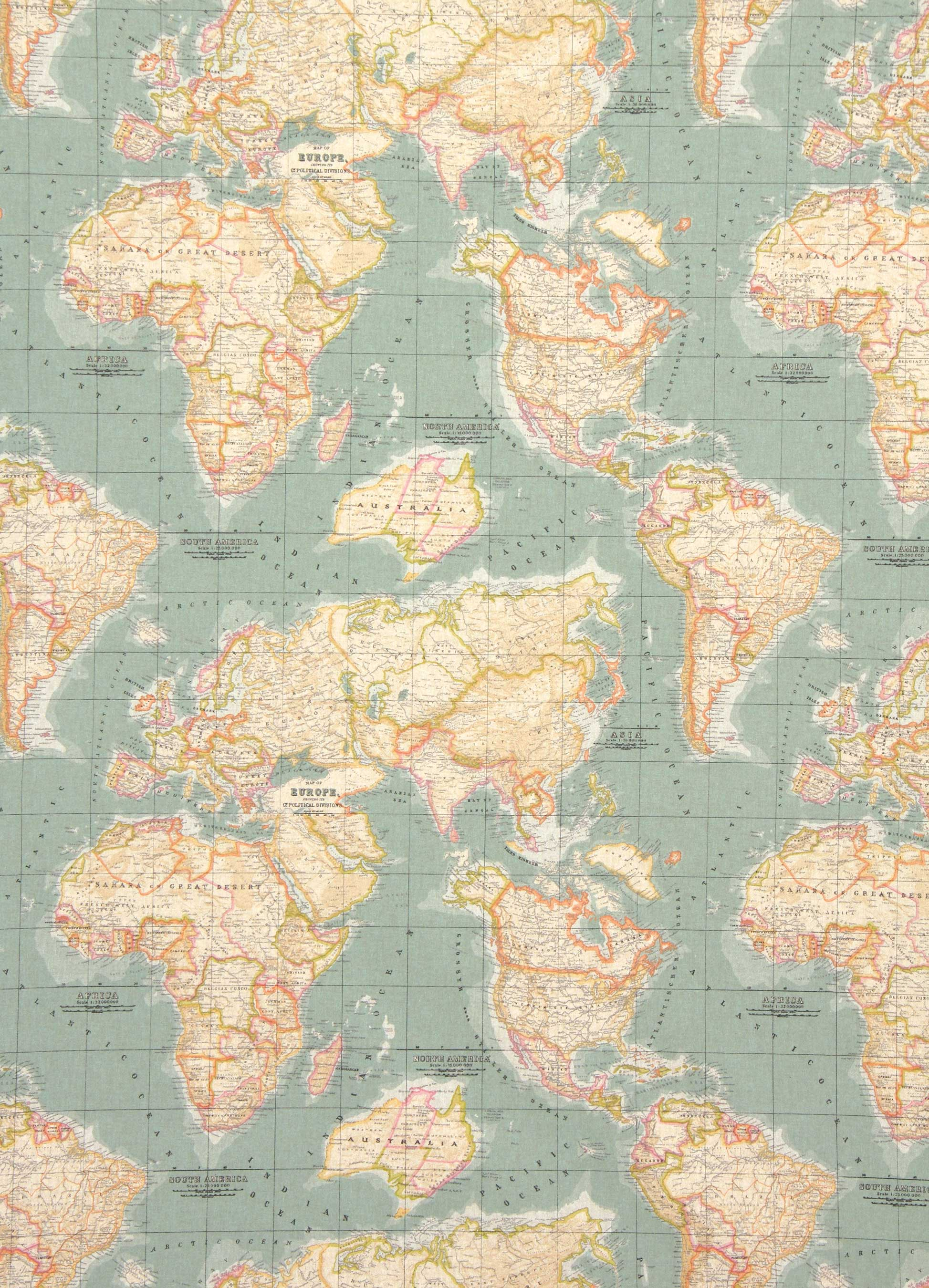 map fabric by Annie Sloane