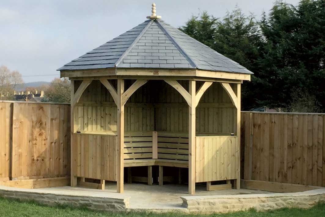 Wooden Shelter made by The Wooden Workshop in Oakford
